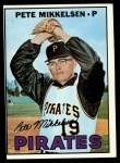 1967 Topps #425  Pete Mikkelsen  Front Thumbnail