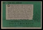 1956 Topps Davy Crockett #20 GRN 2 Ambush  Back Thumbnail