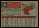 1959 Topps #495   Johnny Podres Back Thumbnail