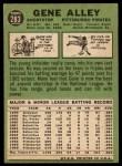 1967 Topps #283  Gene Alley  Back Thumbnail