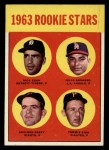 1963 Topps #169  Rookies  -  Gaylord Perry / Tommie Sisk / Dick Egan / Julio Navarro Front Thumbnail
