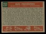 1959 Topps #237  Run Preventers  -  Gil McDougald / Bob Turley / Bobby Richardson Back Thumbnail