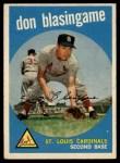 1959 Topps #491   Don Blasingame Front Thumbnail