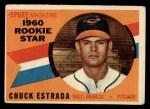1960 Topps #126  Rookie Stars  -  Chuck Estrada Front Thumbnail