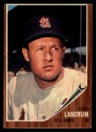 1962 Topps #323   Don Landrum Front Thumbnail