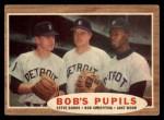 1962 Topps #72  Bob's Pupils  -  Steve Boros / Bob Scheffing / Jake Wood Front Thumbnail