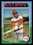 1975 Topps #25   Lee May Front Thumbnail