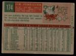 1959 Topps #174  Jim Pendleton  Back Thumbnail