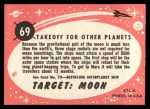 1957 Topps Target Moon Popsicle #69  Takeoff for Other Planets  Back Thumbnail
