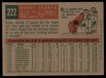 1959 Topps #222  Bobby Shantz  Back Thumbnail