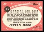 1957 Topps Target Moon Popsicle #75  Outpost on Mars  Back Thumbnail