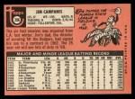 1969 Topps #396  Jim Campanis  Back Thumbnail