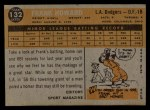 1960 Topps #132   -  Frank Howard Rookies Back Thumbnail