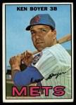 1967 Topps #105  Ken Boyer  Front Thumbnail