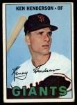 1967 Topps #383  Ken Henderson  Front Thumbnail
