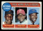 1969 Topps #6  NL HR Leaders  -  Willie McCovey / Rich Allen / Ernie Banks Front Thumbnail