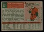 1959 Topps #321 OPT  Bob Giallombardo Back Thumbnail