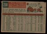 1959 Topps #230   Bill Fischer Back Thumbnail
