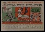 1956 Topps #113   Phil Rizzuto Back Thumbnail