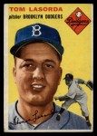 1954 Topps #132   Tommy Lasorda Front Thumbnail