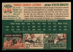 1954 Topps #132   Tom Lasorda Back Thumbnail