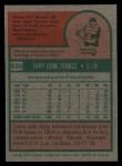 1975 Topps #535   Gene Tenace Back Thumbnail