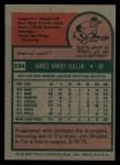 1975 Topps #594   Jim Fuller Back Thumbnail