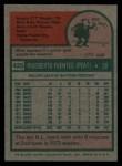 1975 Topps #425   Tito Fuentes Back Thumbnail