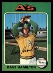 1975 Topps #428   Dave Hamilton Front Thumbnail
