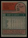 1975 Topps #431   Rod Gilbreath Back Thumbnail