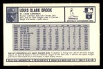 1973 Kelloggs 2D #40   Lou Brock Back Thumbnail