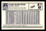 1973 Kelloggs 2D #49  Claude Osteen  Back Thumbnail