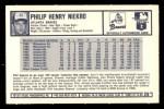 1973 Kelloggs 2D #29  Phil Niekro  Back Thumbnail