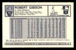 1973 Kelloggs 2D #14  Bob Gibson  Back Thumbnail