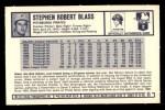 1973 Kelloggs 2D #11   Steve Blass Back Thumbnail