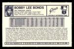 1973 Kelloggs 2D #8  Bobby Bonds  Back Thumbnail