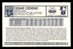 1973 Kelloggs 2D #13  Cesar Cedeno  Back Thumbnail
