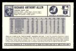 1973 Kelloggs 2D #26   Dick Allen Back Thumbnail