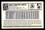 1973 Kelloggs 2D #20  Catfish Hunter  Back Thumbnail