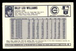 1973 Kelloggs 2D #10  Billy Williams  Back Thumbnail