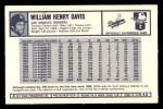 1973 Kelloggs 2D #43  Willie Davis  Back Thumbnail