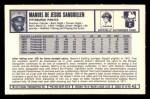 1973 Kelloggs 2D #42   Manny Sanguillen Back Thumbnail
