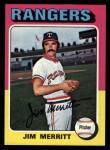 1975 Topps #83   Jim Merritt Front Thumbnail