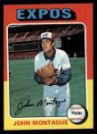 1975 Topps #405  John Montague  Front Thumbnail