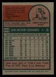 1975 Topps #552   Jack Brohamer Back Thumbnail