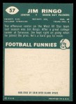 1960 Topps #57   Jim Ringo Back Thumbnail