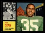 1962 Topps #117   Ted Dean Front Thumbnail