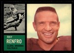 1962 Topps #27   Ray Renfro Front Thumbnail