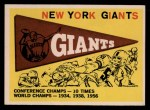 1959 Topps #53   Giants Team Checklist Front Thumbnail