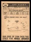 1959 Topps #80  Joe Perry  Back Thumbnail